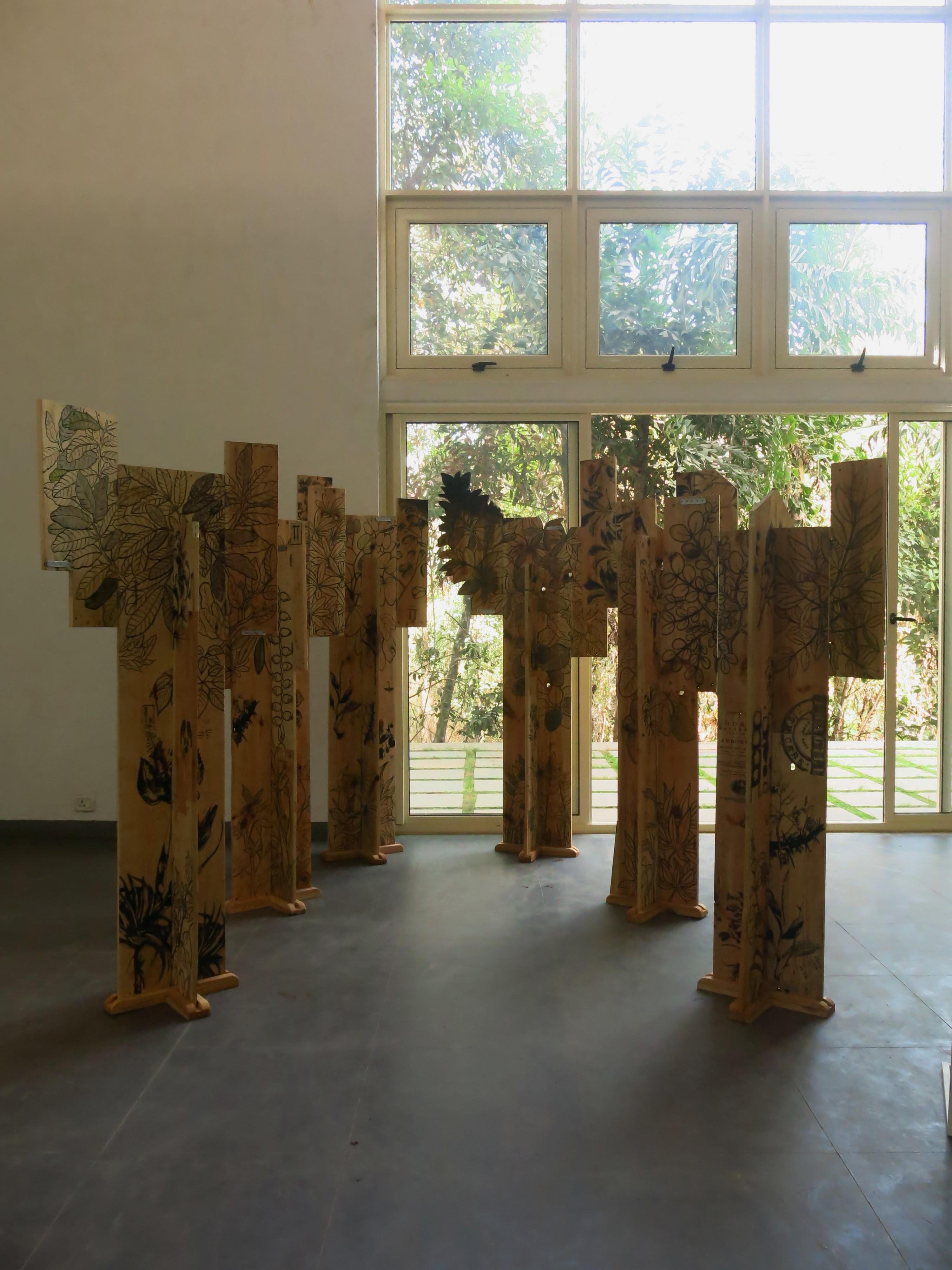 Arun Kumar H G, Traces, sculptural installation, 2016 copy
